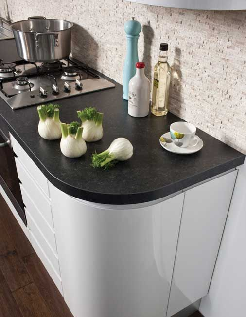 Academy Nova Kitchen in a High Quality White Gloss finish. Also available in Oyster & Light Grey!