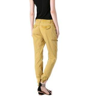 Pantalon en toile Femme ocre - Promod