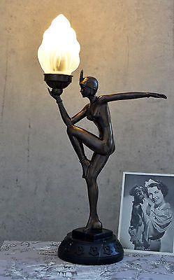 TISCHLAMPE ART DECO TNZERIN LAMPE BAUHAUS TISCHLEUCHTE FRAUENFIGUR 20er Jahre O EUR 5900