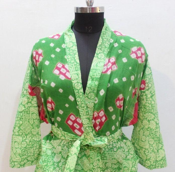 100/% Cotton Handmade Indian Traditional Women New Kimono Dress Night Maxi Dress Rob Beach Cover up Throw Women Boho Bathrobe Dress Kaftan