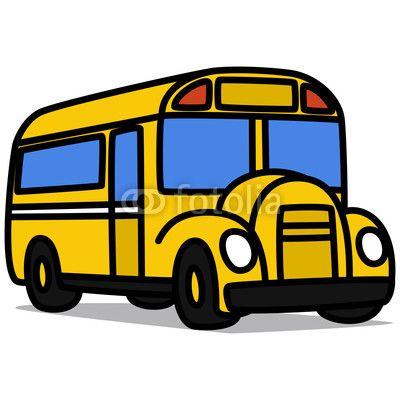 Cartoon School Bus | Cartoon Car 65 : School Bus by katooonline, Royalty free vectors ...