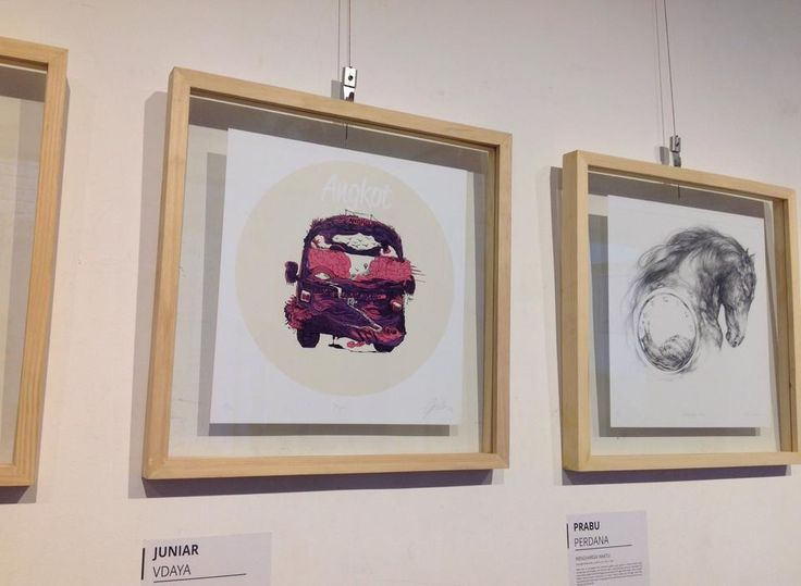 Kembali ke masa depan exhibition in Sarasvati Gallery - artwerk by jun1art