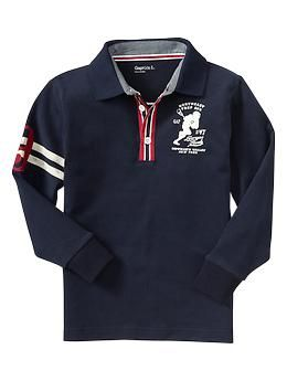 Preppy long-sleeve polo | Gap