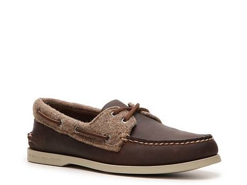Sperry Top-Sider Men's Leather and Wool A/O Boat Shoe Lace Up Casual Men's Shoes - DSW