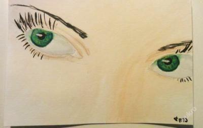 tompok76 - Malba vodovými barvami na kreslířské kartičce A6