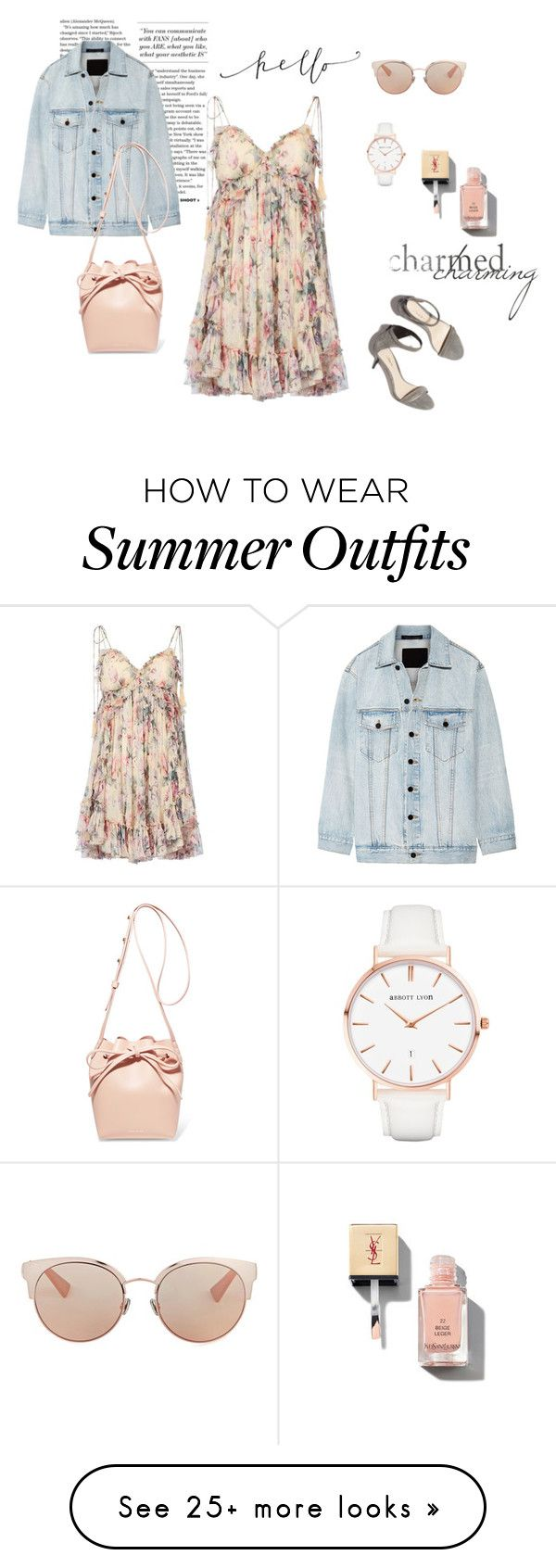 """PASTEL SUMMER OUTFIT"" by julianacheva on Polyvore featuring Zimmermann, Alexander Wang, 3.1 Phillip Lim, Mansur Gavriel, Yves Saint Laurent, Abbott Lyon and Christian Dior"