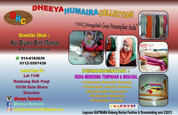 Usahawan Bumiputera Kelantan Lepasan Pelatih GIATMARA Kubang Kerian. Sokong Kami, Kenali Kami, Ingat Kami.  Keterangan Individu  NUR DIYANA BINTI MANSOR 014-8183639 MENERIMA TEMPAHAN JAHITAN TUDUNG,PAKAIAN WANITA LELAKI & KANAK-KANAK  #mara #kotabharu #kelantan #usahawan #promosi #media #sosial #awanbiru #pusma360 #22mac2016 #grianent #kabilahawanbiru #kelantan #giatmarakubangkerian #giatmara #tudung #comel2blako #jomjangok #indeepreneur
