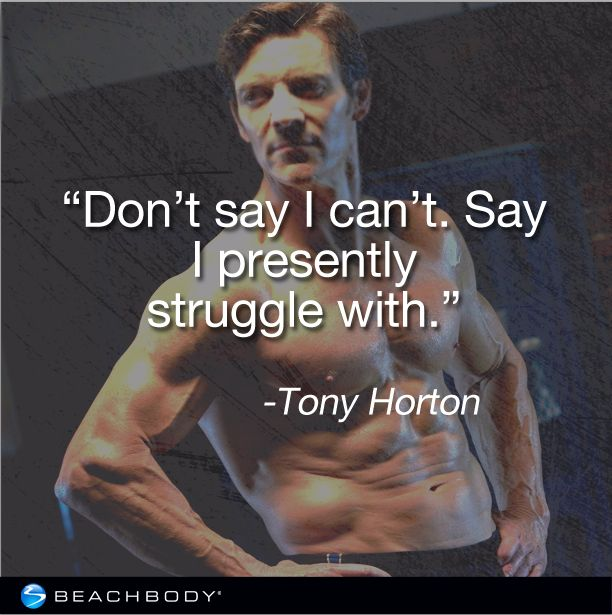 This is my quote for MMX- This girl is not a fighter! Tony Horton Motivation www.hardandfit.com