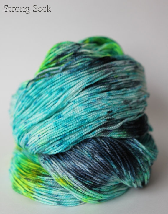 Sea Creature  Hand Dyed Sock Yarn  Fingering Weight  by stimpylab, $25.00