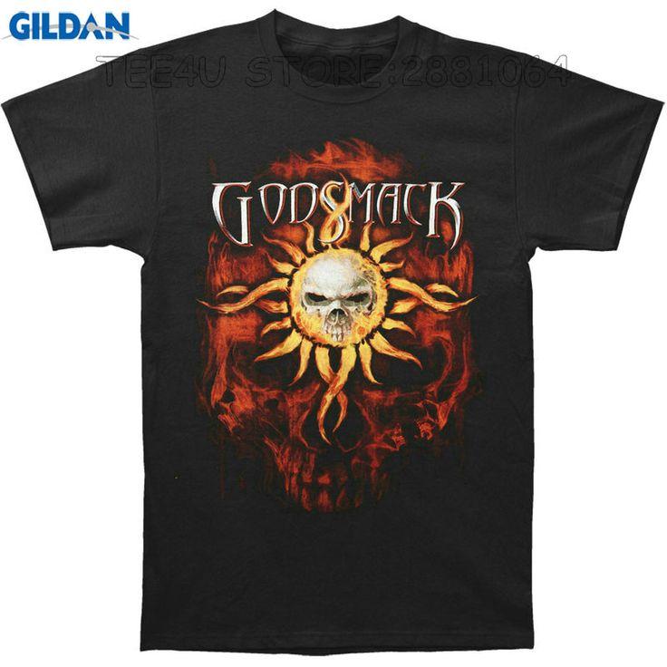 Gildan Tee4U Customised T Shirts Men'S Crew Neck Godsmack Skull Within Tribal Sun Within Jumbo Red Skull Short Graphic Tees #Affiliate