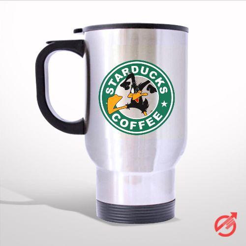 StarsDuck Coffee Daffy Duck Cartoon Travel Mug