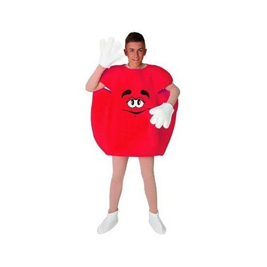 Rood M en M pak voor volwassenen. Dit rode M en M kostuum bestaat uit het rode M&M pak, handschoenen en schoen hoezen. Dit kostuum van een rood M en M snoepje is in een maat verkrijgbaar, ongeveer maat M/L. Carnavalskleding 2015 #carnaval