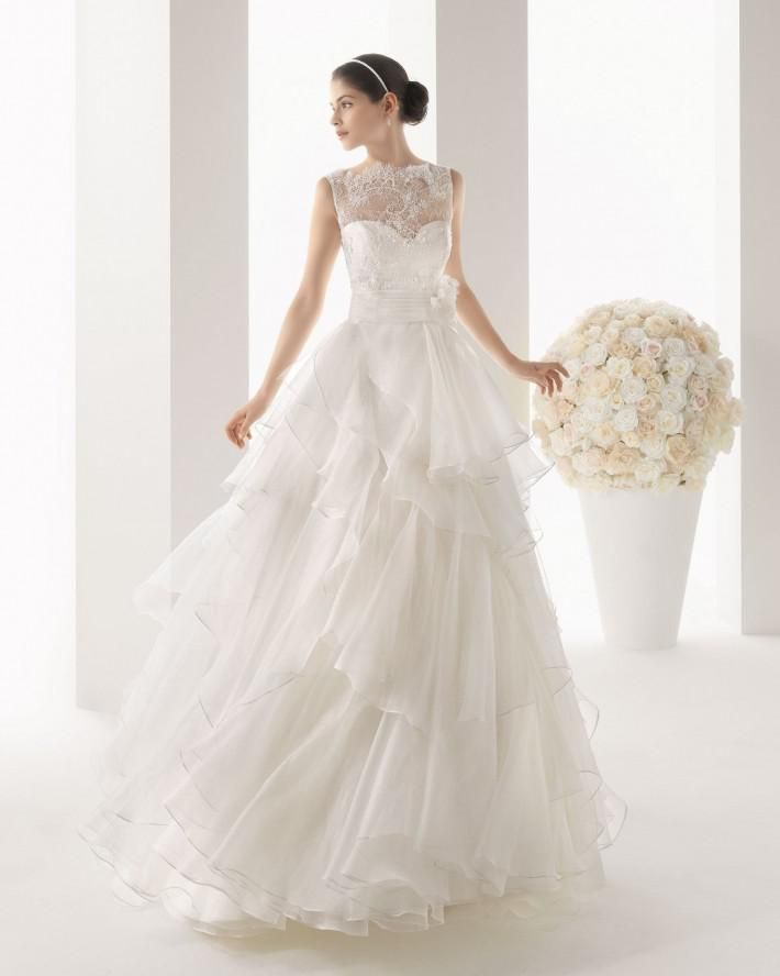 Italy Designers Eye Catching Sweetheart Lace Amp Organza Layered Skirt A Line Wedding Dresses Debenhams