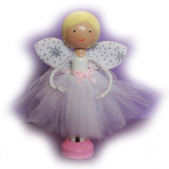 Children's Fairy Clothespin Doll Kit (Embroidery Thread not incl), Kids Craft Kit