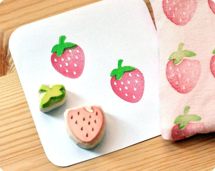 Cómo hacer sellos de goma para estampar en tela