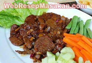 Resep Daging BBQ Lada Hitam
