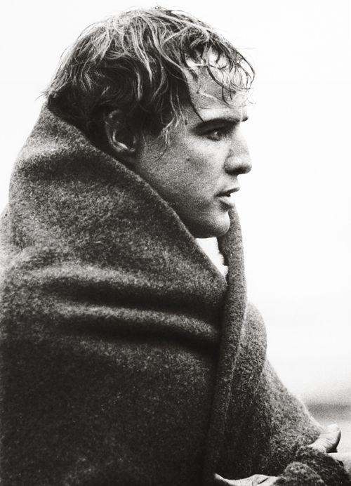 Marlon Brando (1924-2004) - American actor. Photo by Sam Shaw, 1958