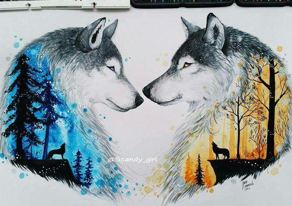 Loup forêt