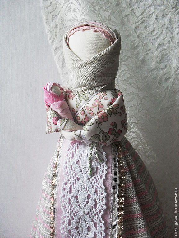 """Кукла-мамушка """"Нежность"""" - бледно-розовый,материнство,кукла ручной работы"""