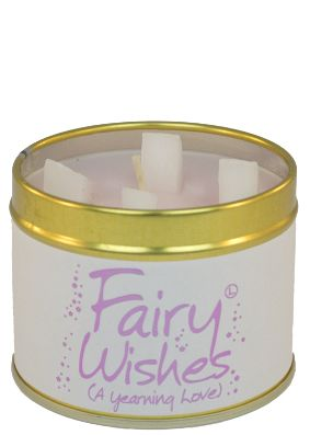 Lily Flame Fairy Wishes Tin Candle