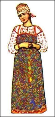Рисунки архангельского народного костюма