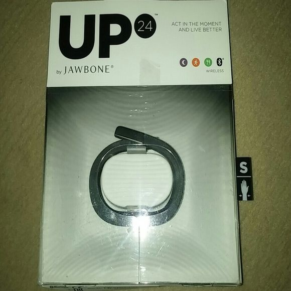 Black Jawbone UP24 Wireless health band. Similar to a fitbit. Only used for 2 weeks. It just wasn't for me! I lost the receipt and unable to return ?? Jawbone Other