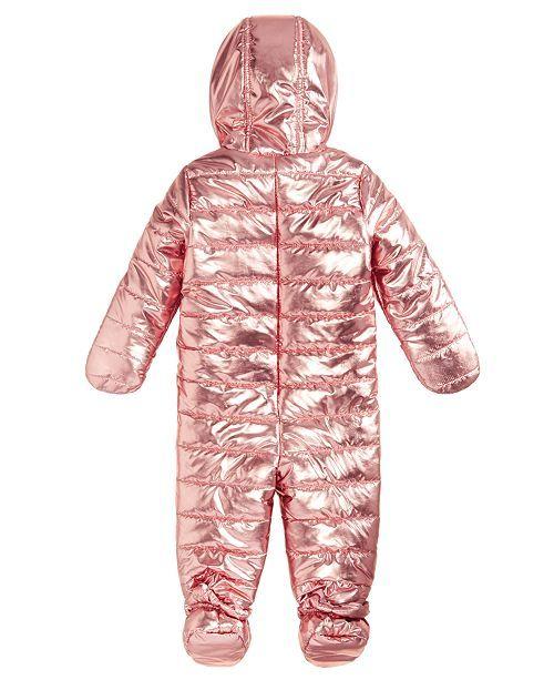 e49767c70e3f First Impressions Baby Girls Metallic Puffer Snowsuit