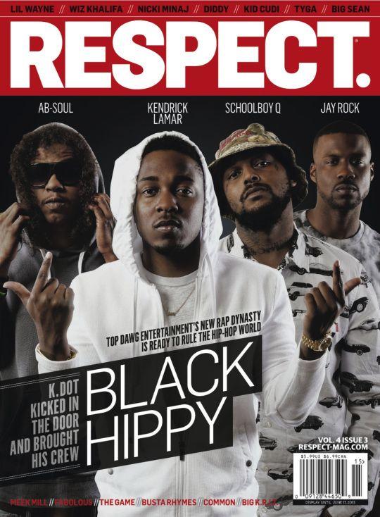 Respect Magazine cover : TDE artist Ab Soul Kendrick Lamar SchoolBoy Q and Jay Rock aka Black Hippy