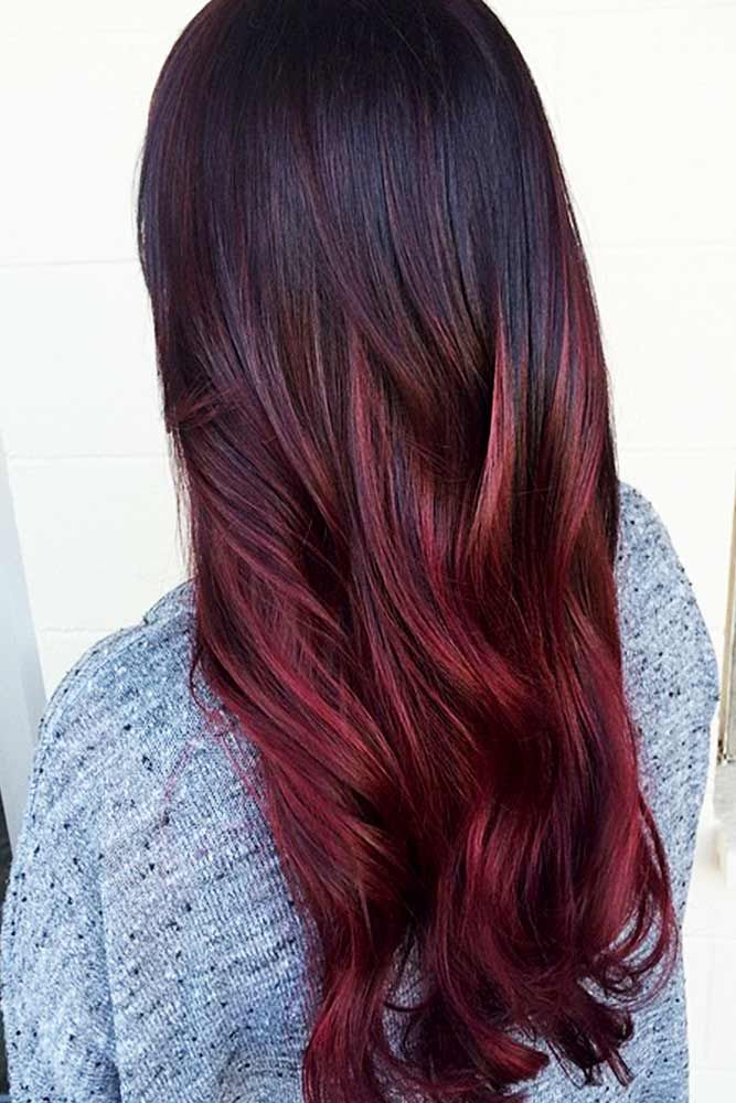 29 Burgundy Hair Styles Find The Best Shade For Your Skin Tone Hair Color Red Ombre Red Ombre Hair Burgundy Hair