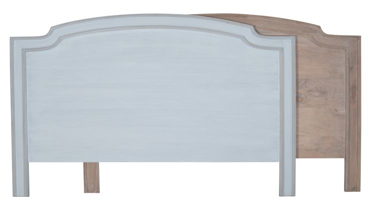Mango wood King Sized headboards available in both natural and French Grey finish