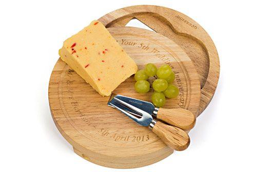 Personalised Round Cheese Board Set   #DearSanta
