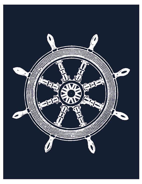 Print- Compass and wheel