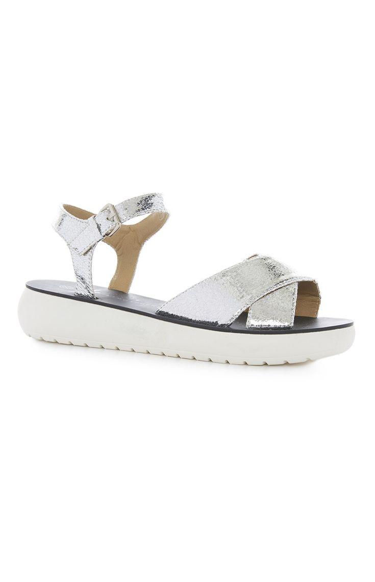 Primark - Metallic Cross Over Sandals