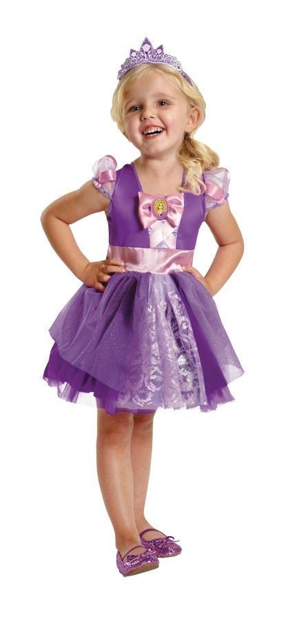 toddler disney rapunzel halloween up purple and pink med 3t4t