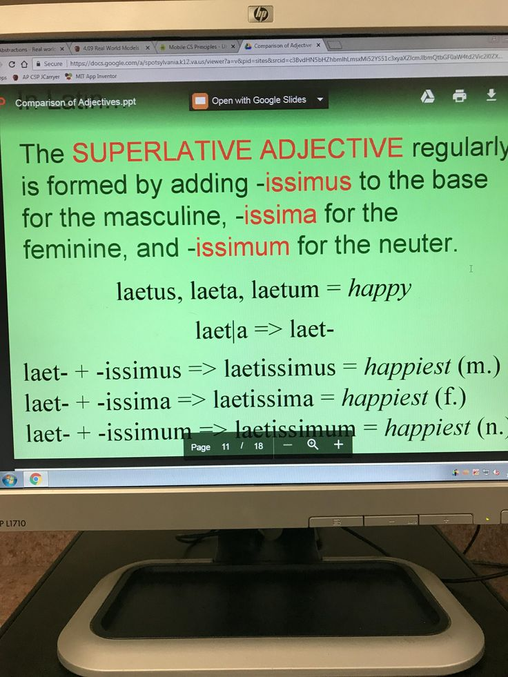 Constructing Latin Adjectives (sorry for bad picture cant screenshot on a school computer Ive tried)
