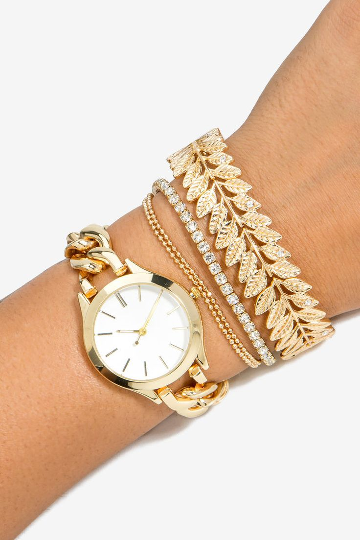 A'GACI | Leafy Boho Metal Arm Candy Watch | #agaci