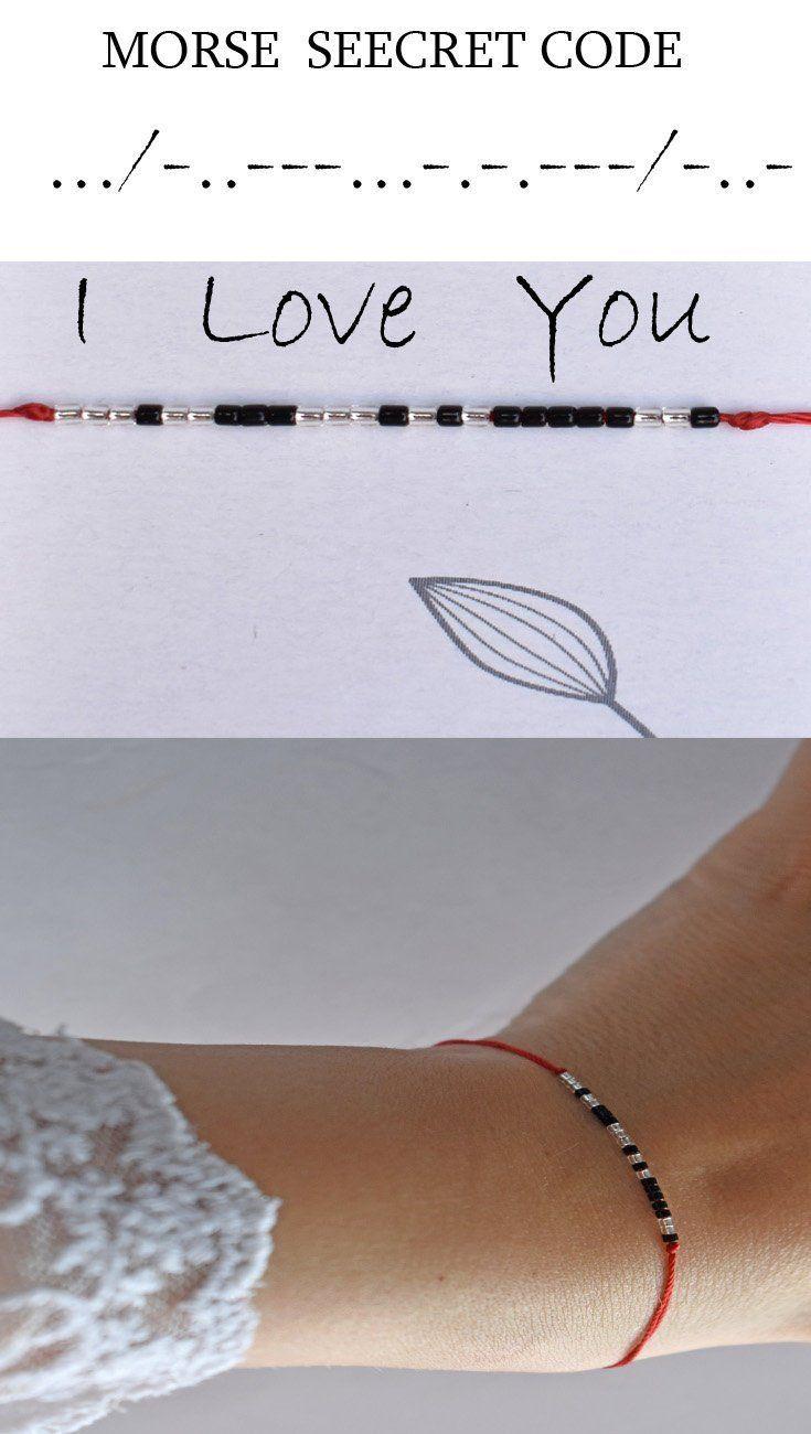 Morse Code Bracelet I Love You Bracelets Secret Message Etsy Girlfriend Gifts Morse Code Bracelet Delicate Diamonds