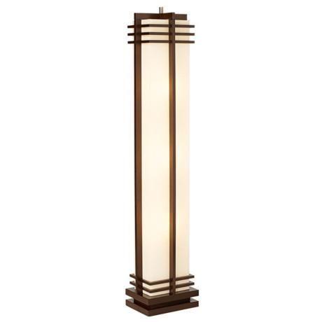 17 best images about the house i built on pinterest Possini euro design deco style walnut column floor lamp
