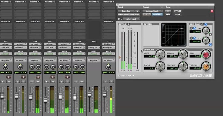 How to Use Buss, Parallel and Sidechain Compression for Mixing Drums