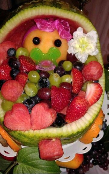Melon baby fruit basket