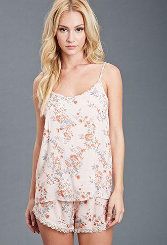 Floral Print Cami PJ Set | FOREVER21 - 2000135601