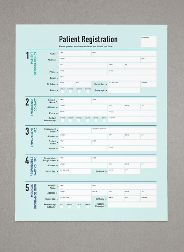 A functional patient form.
