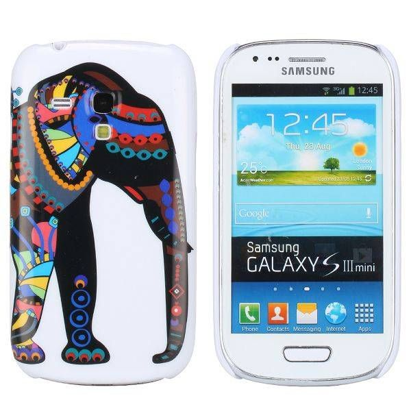Kleurijk olifant hoesje Samsung Galaxy S3 mini
