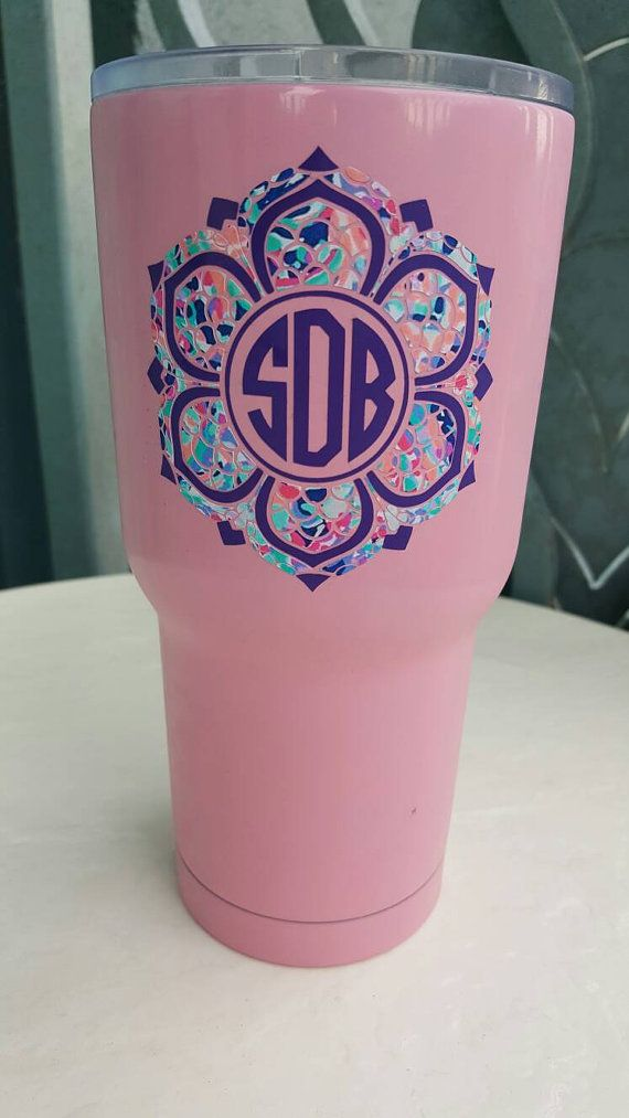 Check out this item in my Etsy shop https://www.etsy.com/listing/455664144/yeti-monograms-decal-lily-inspired-decal