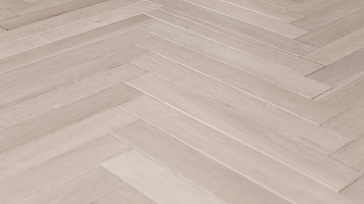 Herringbone parquetry - white washed