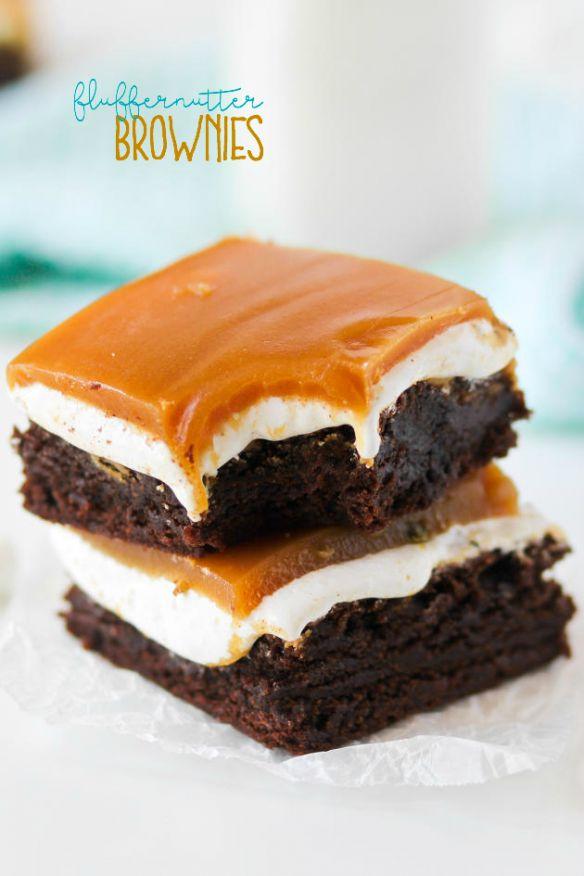 Fluffernutter Brownies (confessionsofacookbookqueen.com ...