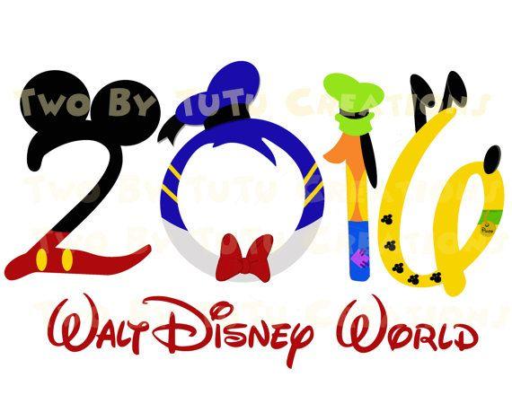 Walt Disney World Fab Five Mickey Gang Family Trip 2016 Printable Image for Iron On Transfer DIY Disney Vacation Cruise Wedding Goofy