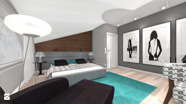 DOM Z WIDOKIEM NA WISŁĘ - Sypialnia, styl nowoczesny - zdjęcie od DALMIKO DESIGN Pracownia Projektowa