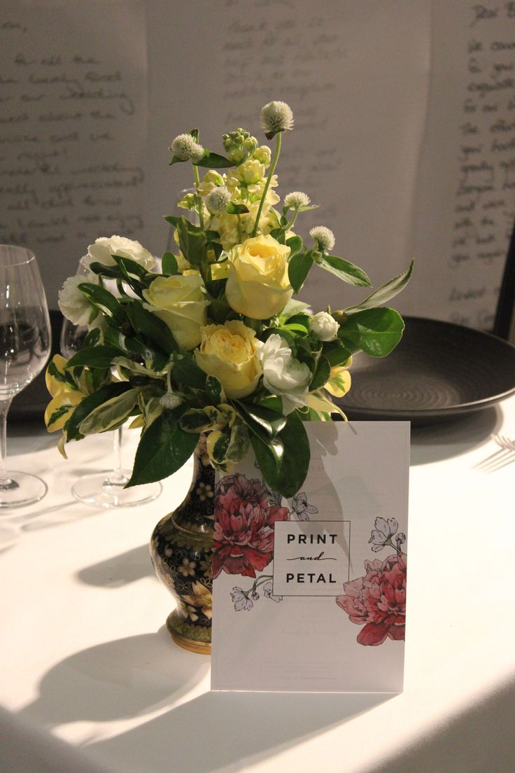 Print and Petal | The 2015 Bride and Groom Expo was our first promotional event! It was so exciting and we were lucky enough to help Sails Restaurant set up their stall by providing fresh flowers and a mock invitation for the fictional Bride and Groom having their reception there.