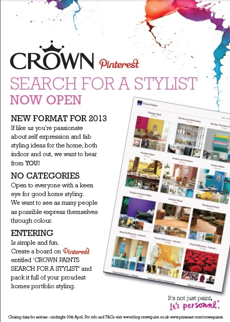 Crown Paints' Search for a Stylist is now OPEN!    For further info and T's visit www.blog.crownpaint.co.uk